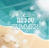 Fondo con estate felice Fotografia Stock