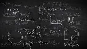 Fondo con fórmulas físicas Foto de archivo