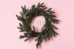Fondo con Feliz Año Nuevo de la palabra 2018 Imagen de archivo