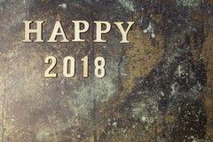 Fondo con Feliz Año Nuevo de la palabra 2018 Imagen de archivo libre de regalías