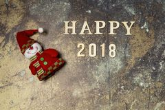 Fondo con Feliz Año Nuevo de la palabra 2018 Foto de archivo