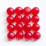 fondo con gelatina rotonda red delicious Fotografie Stock Libere da Diritti