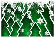 Fondo con gli alberi di Natale Immagini Stock