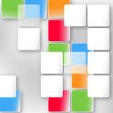 Fondo con gli elementi geometrici Immagine Stock