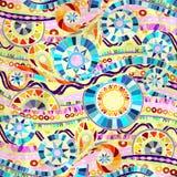 Fondo con gli elementi geometrici del mosaico Fotografia Stock