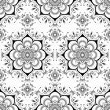 Fondo con gli elementi senza cuciture della decorazione di buta del pizzo del hennè floreale di mehndi nello stile indiano royalty illustrazione gratis