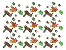 Fondo con gli scoiattoli Immagine Stock