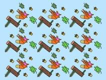 Fondo con gli scoiattoli Immagine Stock Libera da Diritti