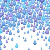 Fondo con gotas de una lluvia Foto de archivo libre de regalías