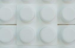 Fondo con i cerchi di plastica Fotografia Stock Libera da Diritti