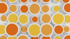 Fondo con i cerchi variopinti arancio video d archivio