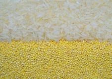 Fondo con i cereali fotografia stock