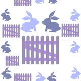 Fondo con i conigli Illustrazione Vettoriale