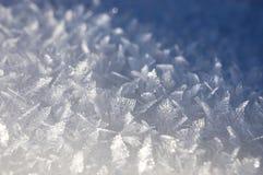 Fondo con i cristalli di ghiaccio Immagini Stock