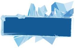 Fondo con i cristalli di ghiaccio per la vostra progettazione Fotografie Stock