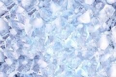 Fondo con i cubetti di ghiaccio, vista superiore Fotografie Stock Libere da Diritti