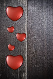 Fondo con i cuori sul San Valentino Fotografie Stock