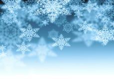 Fondo con i fiocchi di neve Fotografia Stock Libera da Diritti