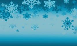 Fondo con i fiocchi di neve Fotografie Stock