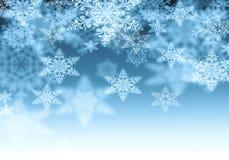 Fondo con i fiocchi di neve Fotografia Stock