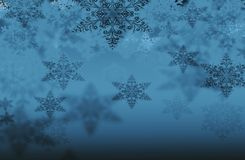 Fondo con i fiocchi di neve Immagine Stock Libera da Diritti