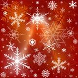 Fondo con i fiocchi di neve bianchi Immagini Stock