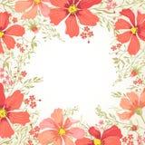 Fondo con i fiori Immagine Stock