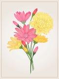 Fondo con i fiori Fotografia Stock Libera da Diritti