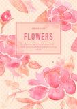 Fondo con i fiori della peonia nel vettore Fotografie Stock Libere da Diritti