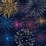Fondo con i fuochi d'artificio Fotografie Stock Libere da Diritti