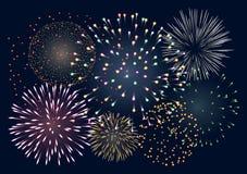 Fondo con i fuochi d'artificio Immagine Stock Libera da Diritti