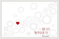 Fondo con i giri e cuore per il compleanno o nozze o Vale Immagine Stock