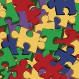 Fondo con i pezzi del puzzle Fotografia Stock Libera da Diritti