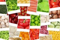 Fondo con i pomodori, paprica, lattuga, patate delle verdure Immagini Stock Libere da Diritti