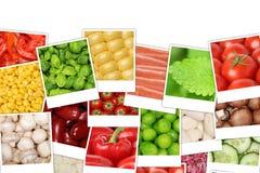 Fondo con i pomodori, paprica, lattuga, patate delle verdure Immagine Stock