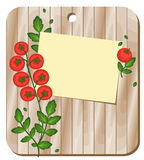 Fondo con i pomodori su un tagliere Fotografia Stock Libera da Diritti