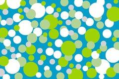 Fondo con i punti verdi di bianco del turchese Fotografia Stock