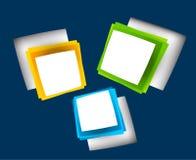 Fondo con i quadrati Fotografia Stock