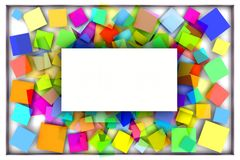 Fondo con i quadrati astratti Fotografia Stock