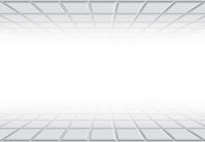 fondo con i quadrati di prospettiva Fotografia Stock Libera da Diritti