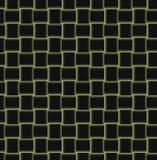 Fondo con i quadrati nel nero e nel giallo Fotografie Stock Libere da Diritti