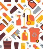 Fondo con i simboli di pulizia Fotografia Stock
