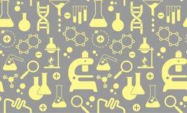 Fondo con i simboli di scienza Immagine Stock