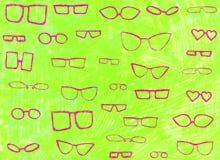 Fondo con i vetri rosa immagini stock