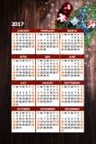 Fondo con il calendario Immagine Stock