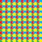 Fondo con il modello colorato di puzzle Illustrazione di Stock