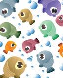 Fondo con il modello del pesce Immagini Stock
