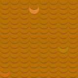 Fondo con il modello delle mattonelle di tetto nel colore marrone Immagini Stock Libere da Diritti