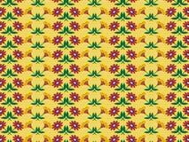 Fondo con il modello di fiori astratto Fotografie Stock Libere da Diritti