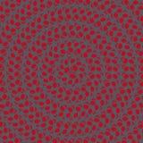 Fondo con il modello di fiori del cerchio colorato Fotografia Stock Libera da Diritti